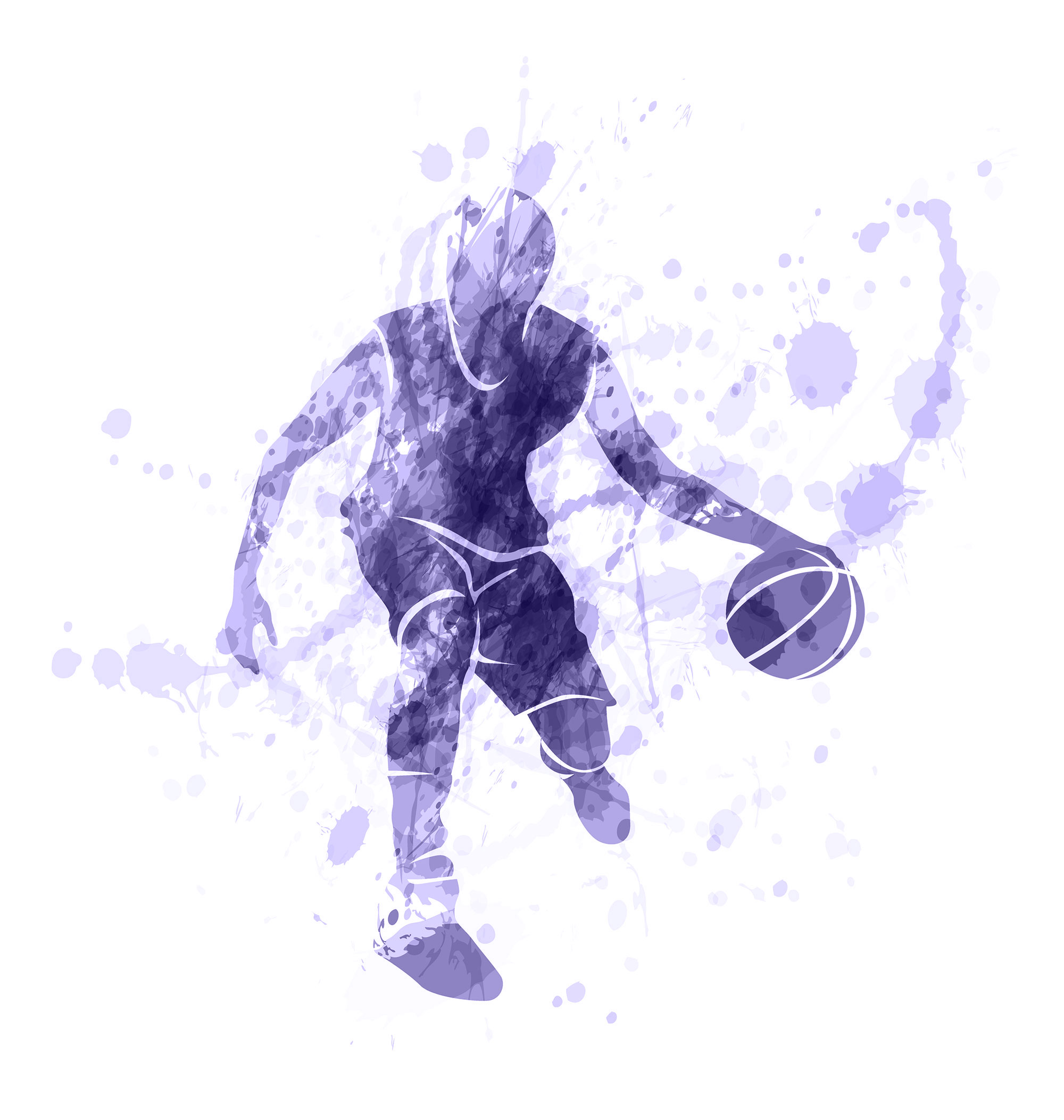 Colored-vector-silhouette-of-basketball-player-with-ball